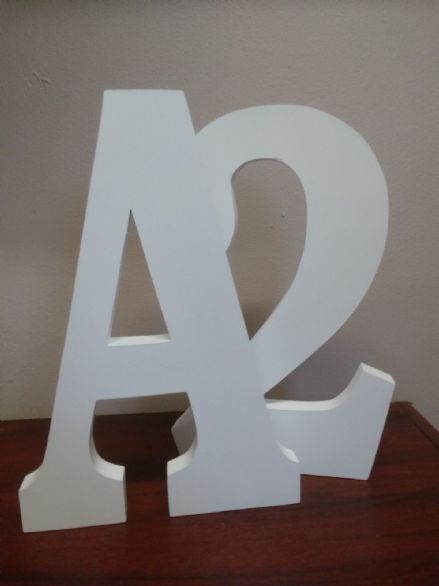 "FREE STANDING  LARGE WOODEN letters  25 cm, (10"") painted wooden letter, numbers"
